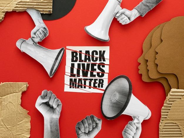 Vidas negras importam pessoas protestando