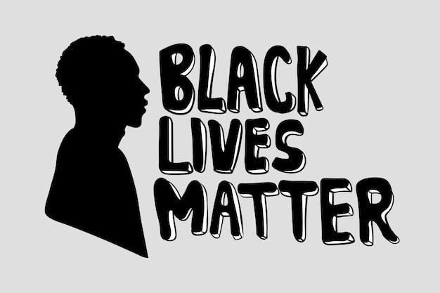 Vidas negras são importantes e postagem na mídia social da campanha pela igualdade