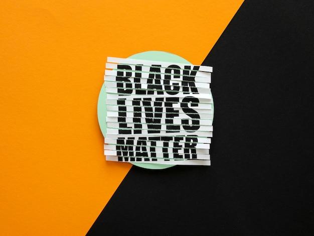 Vidas negras são importantes para a comunidade.