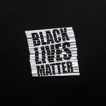 Vidas negras são importantes, vista de cima da comunidade