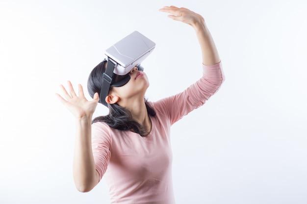 Vídeo game experiência de realidade óculos