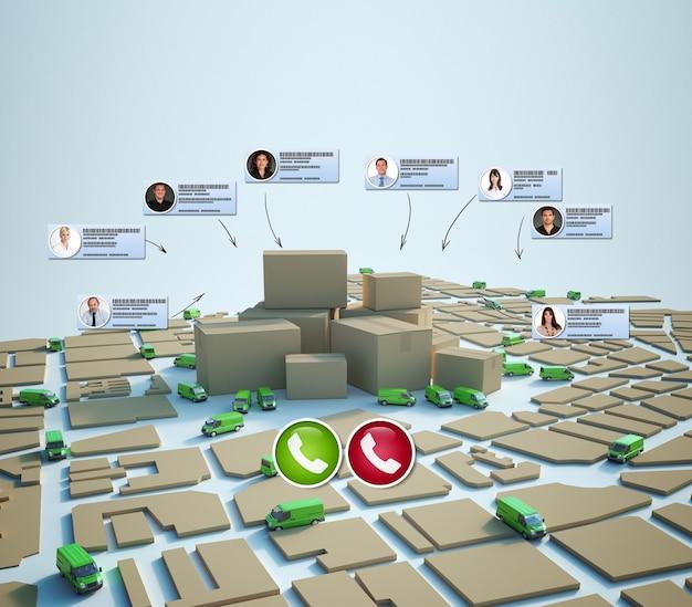Videochamada em um ambiente de comércio eletrônico e distribuição