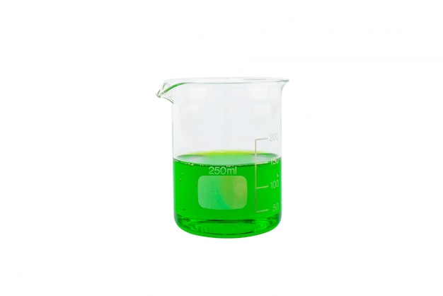 Vidraria de laboratório químico