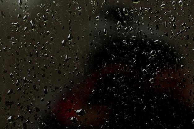 Vidro com textura de gotas de água