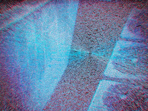 Vidro quebrado com fundo de textura de aberração cromática hd