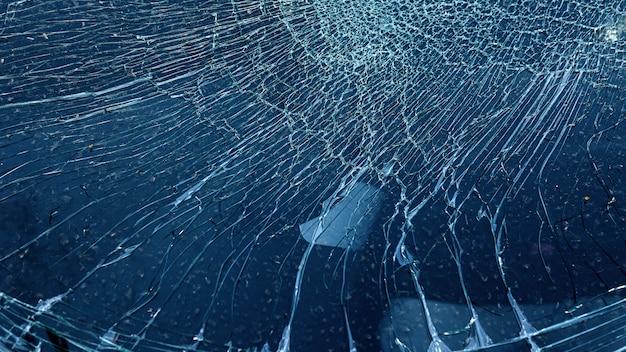 Vidro rachado de acidente de carro acidental w