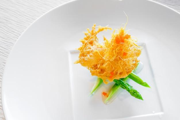 Vieira com molho de camarão doce
