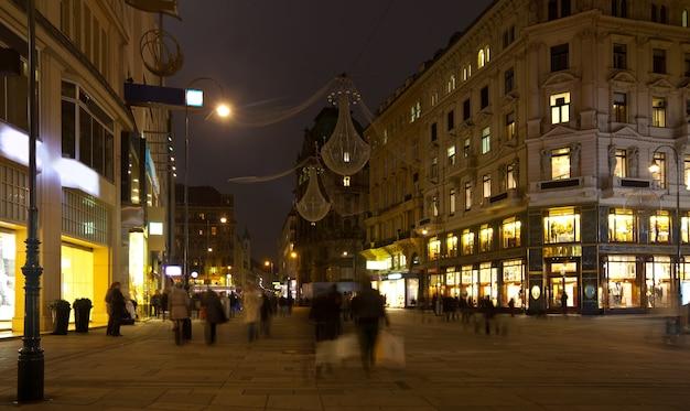 Viena na noite. áustria