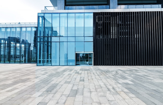 View edifício moderno