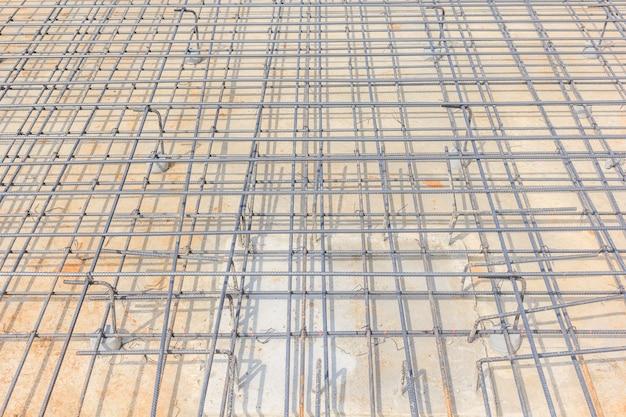 Vigas de aço para concreto armado para formar uma gaiola de reforço firme e nivelada