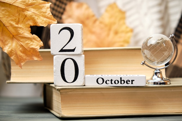 Vigésimo dia do calendário do mês de outono outubro.