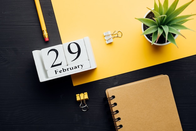 Vigésimo nono dia do mês de inverno, calendário de fevereiro.