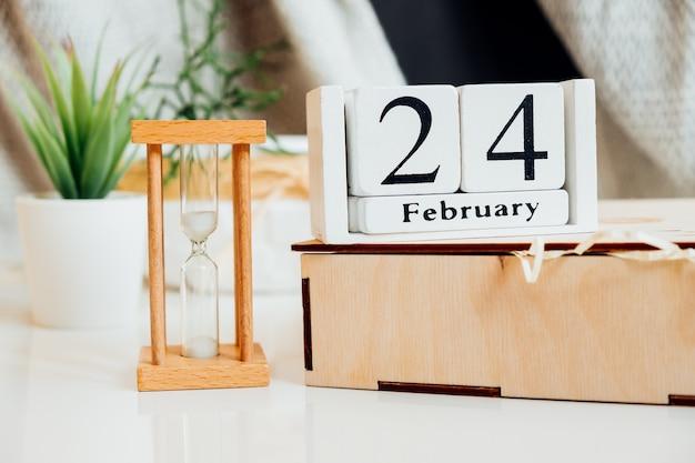 Vigésimo quarto dia do mês de inverno, calendário de fevereiro.