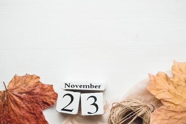 Vigésimo terceiro dia do mês de outono calendário de novembro