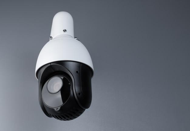Vigilância por vídeo câmera cctv com espaço em cinza