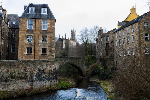 Vila dean em edimburgo, escócia