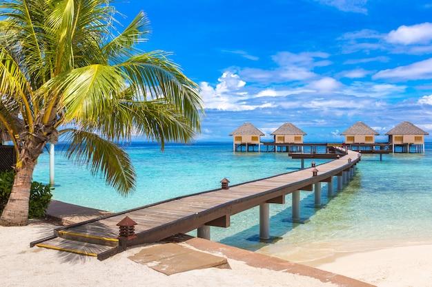Villas de água nas maldivas