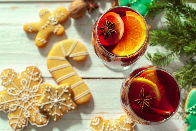 Vinho quente de natal