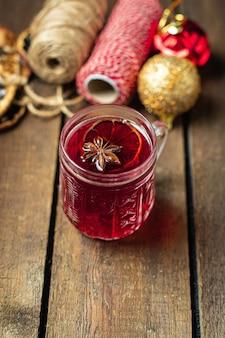 Vinho quente natal comemorar o ano novo aconchegante bebida quente doce bebida refeição lanche