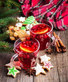 Vinho quente quente de natal