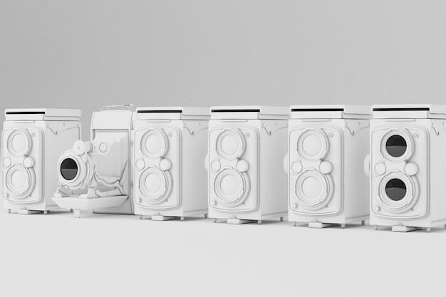 Vintage branco sobre um fundo branco.