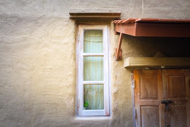 Vintage janela, fundo para hotel resort vintage, conceito verão