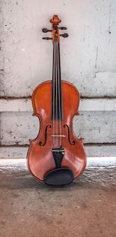 Violino, mostra detalhes do instrumento acústico