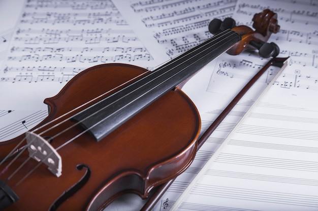 Violino na partitura