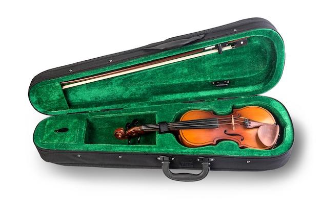 Violino no caso de verde