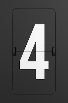 Vire o número do placar preto. renderização 3d