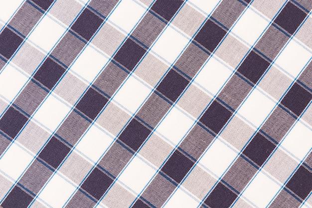 Visão aérea de pano de fundo quadriculado de textura