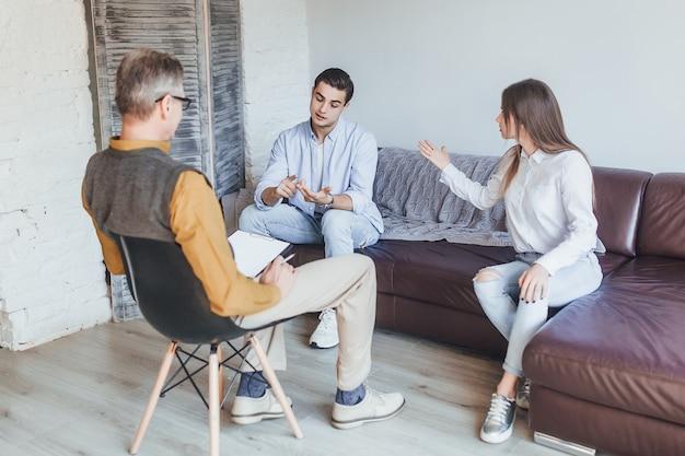 Visão de casal com problemas durante a psicoterapia