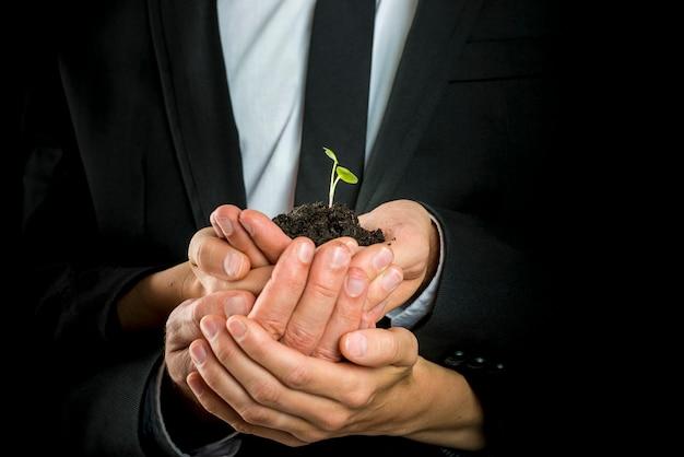 Visão de negócio, arranque ou conceito de trabalho em equipe
