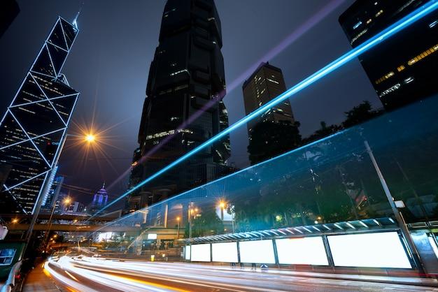 Visão do tráfego de hong kong