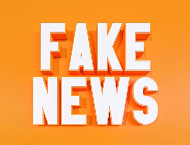 Visão frontal de notícias falsas