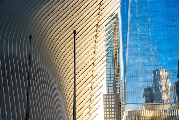Visão futurista de design moderno e edifícios