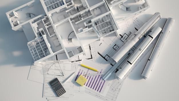 Visão geral do projeto de prédio