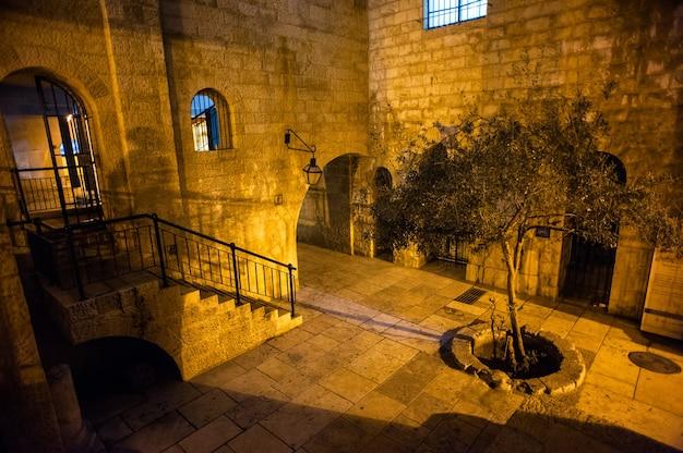 Visão noturna de jerusalém em israel.