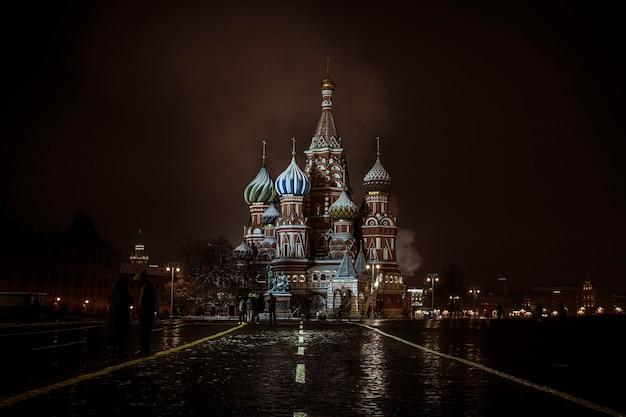 Visão noturna de são basílio Foto Premium