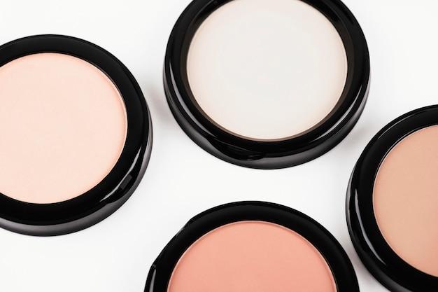 Visão superior sombras para maquiagem