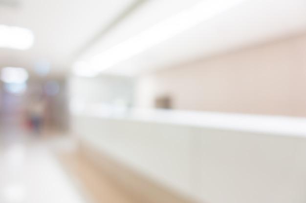 Visão turva de hospital moderno
