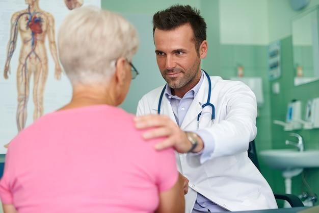 Visite no consultório médico
