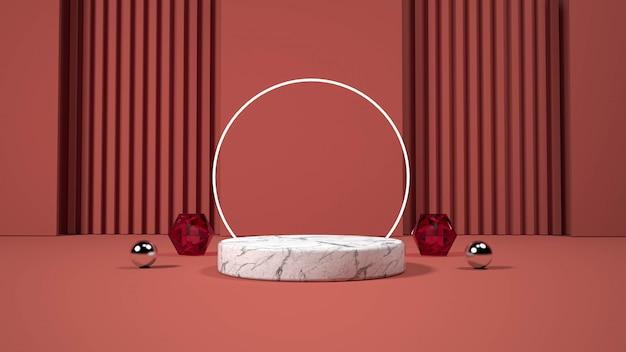 Visor de pódio minimalista moderno.