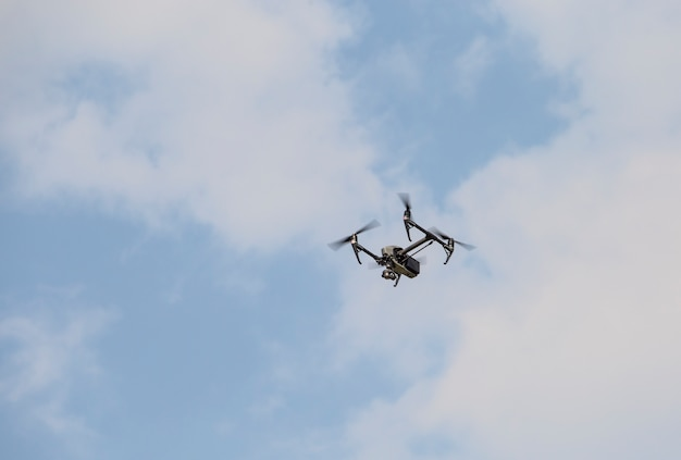 Vista aérea com drones