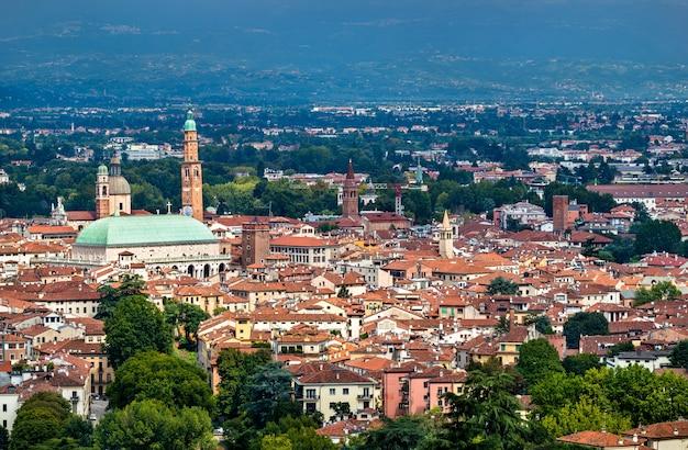 Vista aérea da basílica palladiana em vicenza, itália