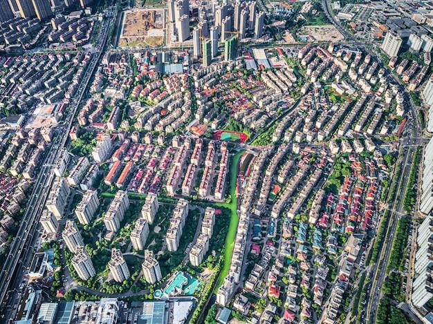 Vista aérea da cidade chinesa