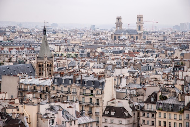 Vista aérea da cidade com arquitetura antiga