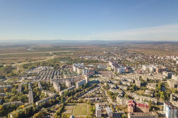 Vista aérea da cidade de ivano-frankivsk, ucrânia.