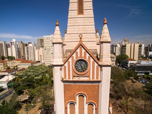 Vista aérea da cidade de ribeirão preto em são paulo, brasil