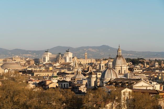 Vista aérea da cidade de roma